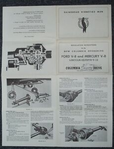 Columbia Overdrive Ford & Mercury V8 and Lincoln Zepher V12