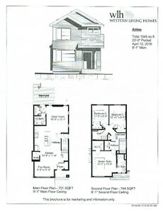 New 1545 sq ft Rear Detached Home in Tonewood, Spruce Grove