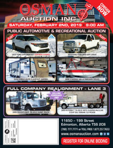 OSMAN AUCTION PUBLIC AUCTION FEB 2ND W/ AUTO & INDUSTRIAL UNITS!