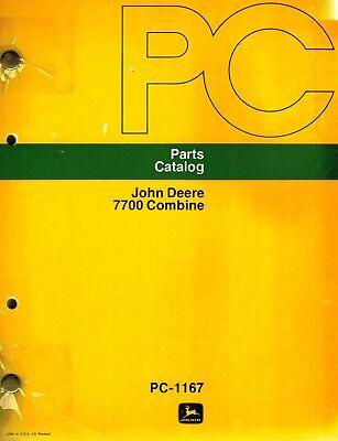 John Deere 7700 Combine Parts Manual Jd New