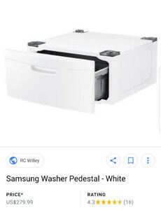 Samsung laundry pedestal BRAND NEW retails for over 300
