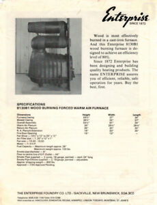 NEW Forced air, Wood burning furnace