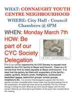 CONNAUGHT YOUTH CENTER MEMBERS DELEGATION TO CITY HALL MARCH 7