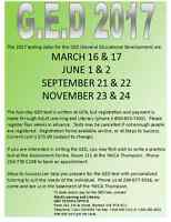 GED Testing Dates in Thompson