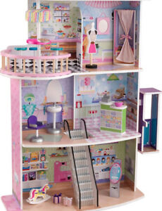 KidKraft Dolls Shopping Center - 65282 15 Barbies... EXCELLENT