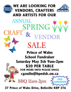 Looking for Vendors, Crafters and Artists (school fundraiser)
