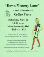 Down Memory Lane Past Fashions and Coffee Party