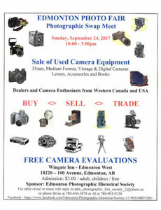 SUNDAY -- CAMERA and PHOTO EQUIPMENT SWAP MEET and SALE