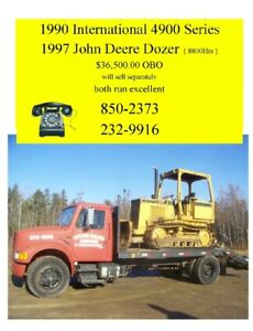 ramp truck and john deere dozer