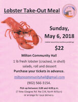 Lobster Take Out - Milton Community Hall