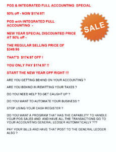POS with FULL ACCOUNTING SOFTWARE - NEW YEAR SPECIAL PRICING 50%