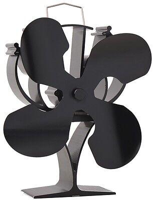 Stromloser Kaminofen Ventilator Stove Fan 4 Blade Gebläse für Ofen Holzofen