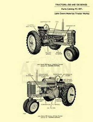 John Deere 520 530 Tractor Parts Manual Catalog Jd 527