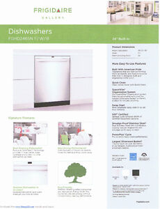 NEW IN THE BOX FRIDGIDAIRE FGH2465NF STAINLESS DISHWASHER