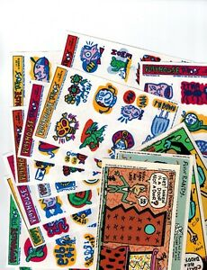 Pee Wee Herman 12 sheets of Playhouse Tattoos + 4 Pop Out Cards