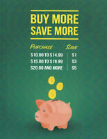 Buy More save More @ The Ben's store