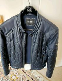 Guess Men's Navy Blue Jacket Size Medium