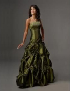 Olive green grad dress *worn only once*