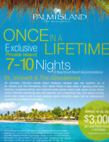All Inclusive Vacation to  Palm Island The Grenadines