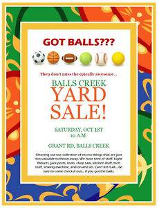 BALLS CREEK EPIC YARD SALE
