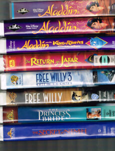 VHS lot Disney and kids movies