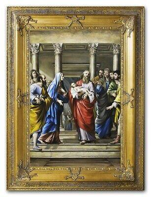 Religion Josef Maria Jesus Handarbeit Ölbild Bild Ölbilder Rahmen Bilder G94682