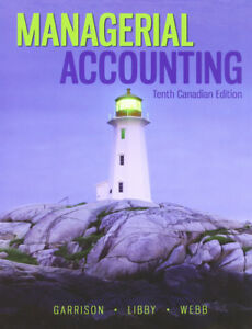 Managerial Accounting 10th edition textbook for sale