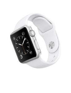 Apple Watch 7000 Series 38 Mm Aluminum Case Sport w. White Band