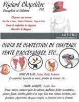 Cours de Chapeaux & vente d'accessoires etc. 40 ans d'expérience