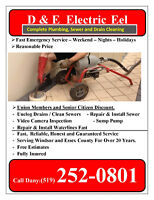 Plumbing and sewer cleaning service