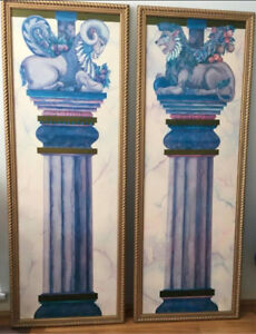 """Prints Paintings 2 Pair Limited Edition Massive 64"""" x 23"""""""