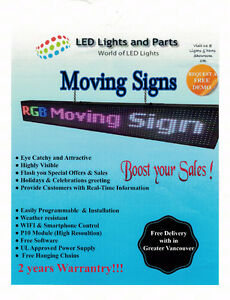LED Full Colour Scrolling Sign  39 x 7 inches P10