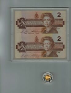 $2 Piedfort Coin and Banknote Set 1996 Special Edition Silver