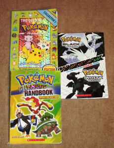 3 POKEMON HANDBOOKS-BLACK AND WHITE, OFFICIAL AND ULTIMATE