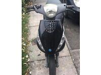 Black piaggio zip 50cc
