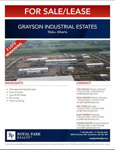 Nisku Grayson Industrial Estates for Sale/Lease