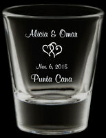 Printed Shot and Wine Glasses For Your Wedding