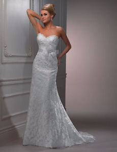 Maggie Sottero *Lorie* Wedding Dress and Veil for SALE! London Ontario image 2
