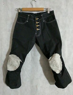 Christopher Nemeth Duck Canvas Knee Patch Cropped Pants Small (XS)