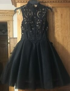 ALYCE Black grad dress **size 00/ size 4 ** From Poppy & Olive