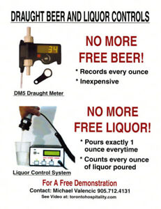 liquor system controls counters Beer meters counters controls