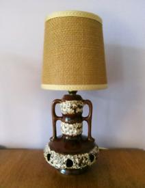 Retro West German fat lava lamp, rare small type