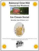 Balmoral Grist Mill Ice Cream Social