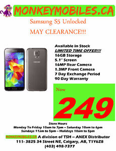 Samsung S5 Unlocked - MAY CLEARANCE SALE!!!