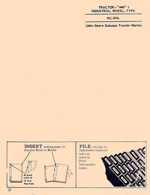 John Deere 440 I Tractor Industrial Wheel Parts Manual
