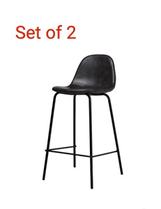"24"" Bar stools Set of 2 Brown or Black  /NEW"