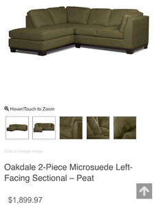 Microsuede sectional