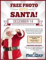 Santa2Day Event! FREE Photo's with Santa!