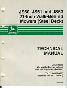 JD walk behind mowers manual
