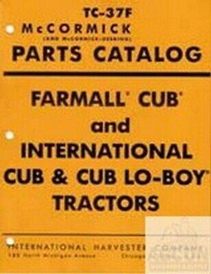 Farmall Cub International Lo-boy Parts Catalog Manual